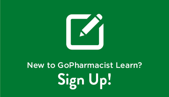 Sign up for GoPharmacist Learn